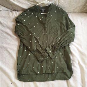 Primark button down blouse